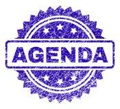Porysowana agenda znaczka foka ilustracji