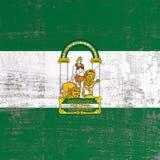 Porysowana Andalusia flaga royalty ilustracja