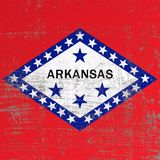 Porysowana Arkansas flaga royalty ilustracja