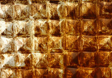 Porysowana ośniedziała metal powierzchnia Zdjęcie Royalty Free