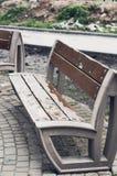 Porysowana parkowa ławka Obraz Royalty Free