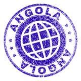 Porysowana Textured ANGOLA znaczka foka ilustracji