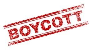 Porysowana Textured bojkota znaczka foka ilustracji