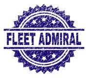 Porysowana Textured floty ADMIRAL znaczek foka ilustracja wektor