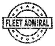 Porysowana Textured floty ADMIRAL znaczek foka ilustracji