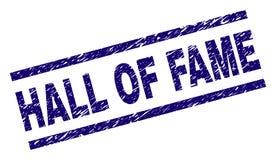 Porysowana Textured hall of fame znaczka foka fotografia stock