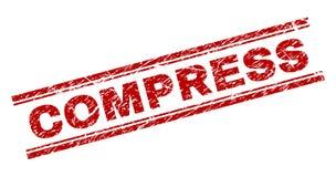 Porysowana Textured kompresu znaczka foka ilustracji