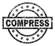 Porysowana Textured kompresu znaczka foka ilustracja wektor