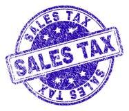 Porysowana Textured sprzedaż podatku znaczka foka ilustracji