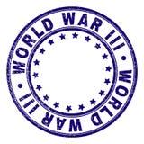 Porysowanego Textured wojny światowej III Round Stemplowa foka royalty ilustracja