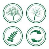 porysowani eco znaczki Zdjęcie Royalty Free