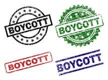Porysowani Textured bojkot foki znaczki ilustracja wektor