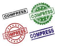 Porysowani Textured kompres foki znaczki ilustracji