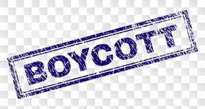Porysowany bojkota prostokąta znaczek royalty ilustracja