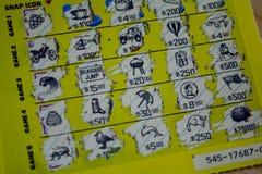 Porysowany Loteryjny bilet obraz stock