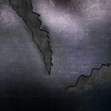 Porysowany metalu tło z pęknięciami Zdjęcie Royalty Free