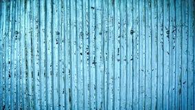 Porysowany Stary Grungy błękit Gofrujący cynk ściany tło Zdjęcie Stock