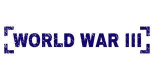 Porysowany Textured III wojny światowej Stemplowa foka Wśrodku kątów royalty ilustracja