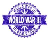 Porysowany Textured III wojny światowej Stemplowa foka z faborkiem ilustracji