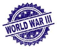 Porysowany Textured III wojny światowej Stemplowa foka ilustracja wektor