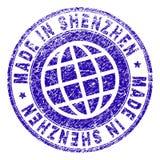 Porysowany Textured ROBIĆ W SHENZHEN znaczka foce ilustracja wektor