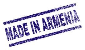 Porysowany Textured ROBIĆ W ARMENIA znaczka foce royalty ilustracja