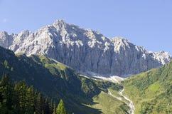 Porze, montanha nos cumes de Carnic Fotos de Stock