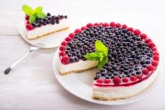 Porzeczkowy karmowy deser z malinkami Zdjęcia Stock