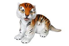 Porzellan-Tiger Stockfoto