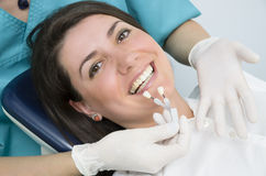 Porzellan-Zähne Stockfotos