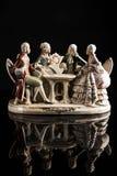 Porzellanskulptur von Spielkarten der Leute Lizenzfreies Stockbild