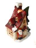 Porzellanweihnachtshaus Stockbild