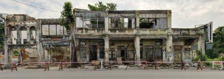 Porzuceni dziedzictwo domy, George Town, Penang, Malezja Obrazy Stock