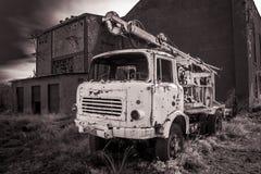 porzuconą ciężarówkę obraz royalty free
