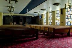 Porzucona kaplica Cleveland, Ohio - Zaniechany weterana szpital - obraz stock