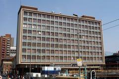 Porzucony budynek mieszkaniowy w Johannesburg fotografia stock