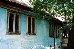 Porzucony budynek w Travnik Fotografia Royalty Free