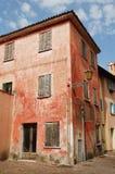 Porzucony Czerwony budynek w Caorle Obraz Stock