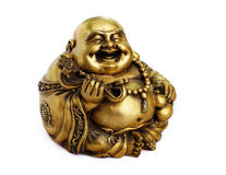 Posążek Buddha na białym tle Obraz Royalty Free