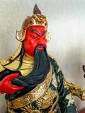 Posążek legendarny chińczyka Kuan Yu bóg wojna zdjęcia royalty free