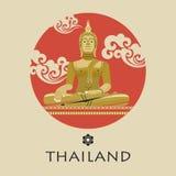 posąg buddy złota również zwrócić corel ilustracji wektora ilustracja wektor