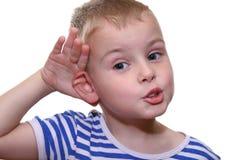 posłuchaj sama i t - zdjęcie stock