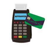 POS τελική και πιστωτική κάρτα Στοκ εικόνες με δικαίωμα ελεύθερης χρήσης