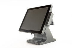 POS all-in-one computer. Point of sale all in one computer/terminal  on white background Royalty Free Stock Images
