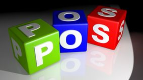 POS colored cubes Royalty Free Stock Image