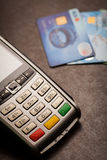 POS and credit cards royalty free stock photography