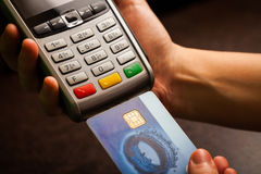POS en creditcards stock fotografie