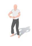 pos. för chigymnastikkung vektor illustrationer