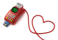 Pos and heart symbol Stock Photography