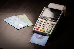 POS i kredytowe karty Obrazy Royalty Free